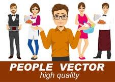 Os povos vector com vários caráteres Fotografia de Stock Royalty Free