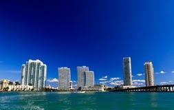 Os prédios em Miami Beach fotografia de stock