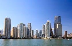 Os prédios em Miami da baixa fotografia de stock