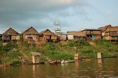 Os precários da vila de Belen em Iquitos imagens de stock