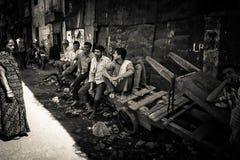 Os precários de Dharavi de Mumbai, Índia Imagens de Stock Royalty Free