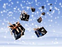 Os presentes dão forma ao céu ilustração royalty free