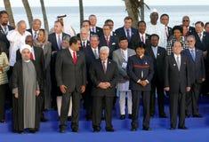 Os presidentes das delegações levantam para a fotografia oficial na 17a cimeira do movimento Não-alinhado Fotografia de Stock Royalty Free