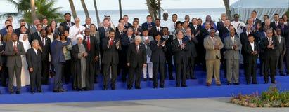 Os presidentes das delegações levantam para a fotografia oficial na 17a cimeira do movimento Não-alinhado Imagem de Stock