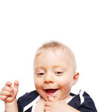 Os primeiros dentes do bebê Fotos de Stock Royalty Free