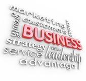 Os princípios 3D dos conceitos do negócio exprimem o fundo Imagens de Stock Royalty Free