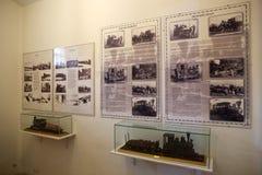 Os prisioneiros treinam no marítimo, na prisão e no museu antártico em Ushuaia, Argentina fotos de stock