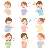 Os problemas de saúde das mulheres ilustração royalty free