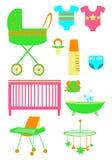 Os produtos das crianças ilustração do vetor