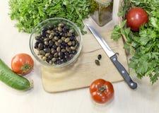 Os produtos para saladas Fotos de Stock Royalty Free