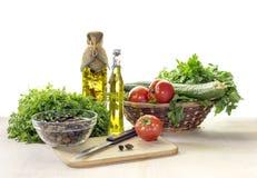 Os produtos para saladas Imagem de Stock Royalty Free