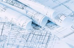 Os projetos das casas um fundo Imagens de Stock Royalty Free