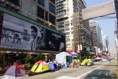 Os protestadores da democracia de Hong Kong estão lutando fora seu executivo principal Fotos de Stock