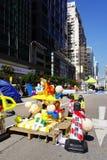 Os protestadores da democracia de Hong Kong estão lutando fora seu executivo principal Imagens de Stock
