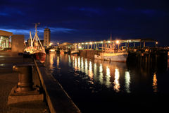 Os protetores nortes pescam Quay Imagem de Stock