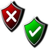 Os protetores - retifique/falso Imagem de Stock