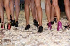 Os pés das mulheres Fotos de Stock
