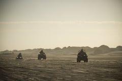 Os 3 quadriláteros na praia Foto de Stock
