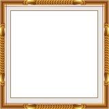 Os quadros e as beiras decorativos do vintage ajustaram-se, quadro da foto com linha de canto, silhueta de canto, quadro de madei Foto de Stock Royalty Free
