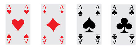 Os quatro ás do póquer Fotos de Stock Royalty Free