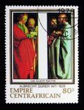 Os quatro apóstolos por Albrecht Durer, serie, cerca de 1978 Imagem de Stock Royalty Free