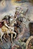 Os quatro cavaleiro do apocalipse imagens de stock royalty free