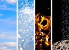 Os quatro elementos fotos de stock