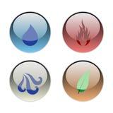 Os quatro elementos Imagens de Stock