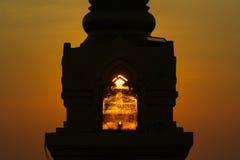 Os raios do sol de ajuste Fotografia de Stock