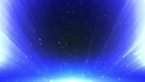 Os raios iluminam - o fundo azul dado la?os ilustração stock