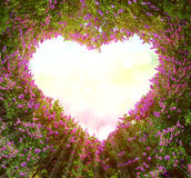 Os ramos formam um teste padrão coração-dado fôrma Imagens de Stock
