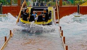 Os rapids no parque do oceano, Hong Kong Imagem de Stock Royalty Free