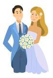 Os recém-casados, casamento, noivos, contrataram pares Fotos de Stock Royalty Free