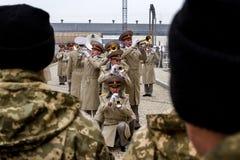 Os recrutas das forças armadas de Ucrânia, que participaram imagem de stock royalty free