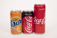 Os refrescos podem dentro Imagem de Stock Royalty Free