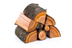 Os registros da madeira do incêndio Fotos de Stock Royalty Free