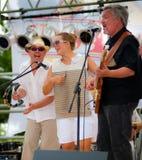 Os reis do BBQ executam a música do zydeco. Fotografia de Stock Royalty Free