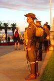Os reis memoráveis de Perth estacionam o 100th serviço do crepúsculo de ANZAC Fotos de Stock Royalty Free