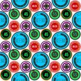 Os relógios de pulso de disparo vector do cronômetro colorido da informação digital do número das ferramentas da medida do tempor Imagens de Stock Royalty Free