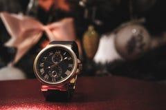 Os relógios dos homens caros Foto de Stock