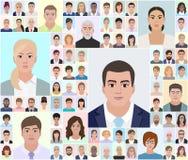 Os retratos diferentes, escolhem povos, vetor Imagem de Stock Royalty Free