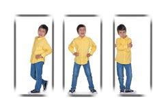 Os retratos do menino Imagens de Stock