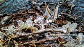 Os rios de minha cidade congelaram-se imagens de stock royalty free