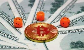 Os riscos de investem ao bitcoin Foto de Stock