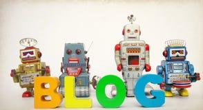 Os robôs do blogue tonificaram a imagem Foto de Stock Royalty Free