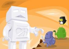 OS-Roboterkrieg vektor abbildung