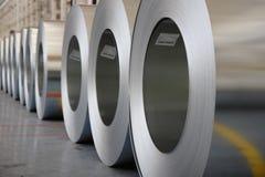 Os rolos de aço galvanizados Fotografia de Stock Royalty Free