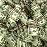Os rolos dos dólares ilustração stock