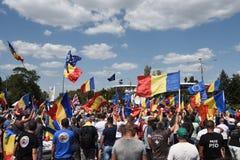 Os Romanians de no exterior protestam contra o governo fotos de stock royalty free