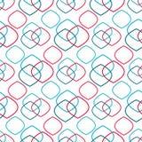 Os rombos vermelhos e azuis cruzam-se no fundo branco ilustração do vetor
